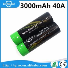 Rechargeable 3.7V 18650 battery 3000mAh 40A vapor box mods battery