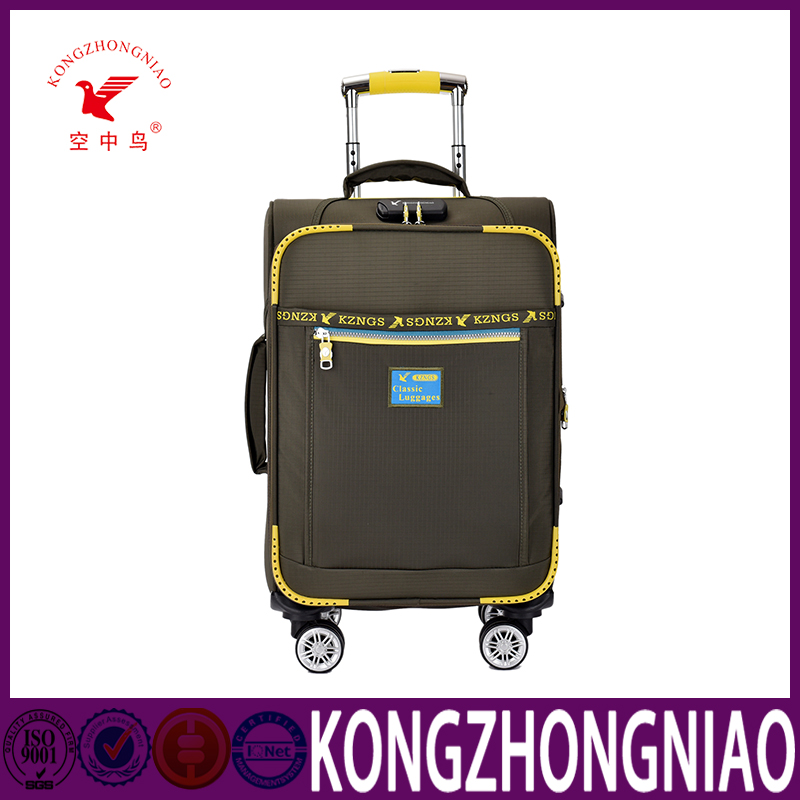 KZN 2016 hot sale travel bag trolley luggage for trip,manufacturer supplier