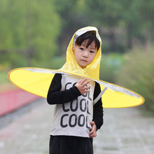 Novelty design rainhat folding rain cap children and adult convenient out of the ordinary umbrella