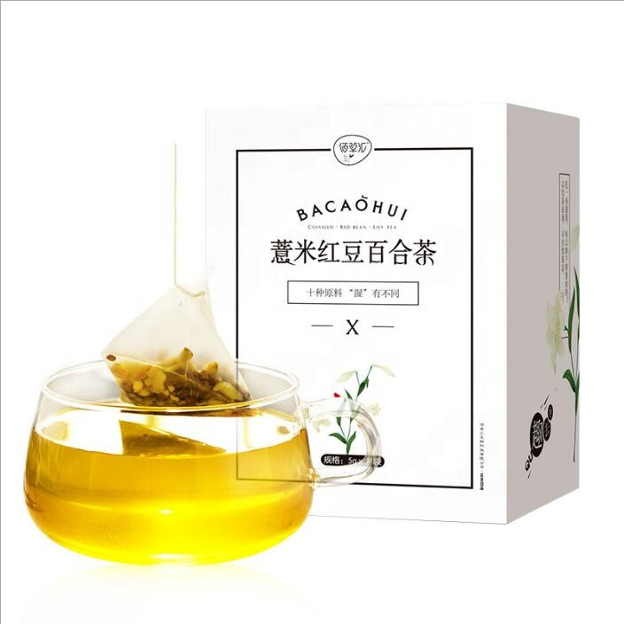 Chinese Health-preserving and dampness-dispelling tea Coix seed red bean Lily tea