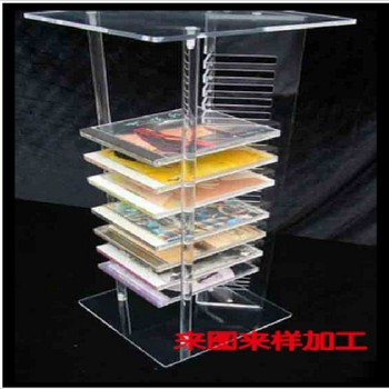 2013 New Design Clear Acrylic Book Display Case