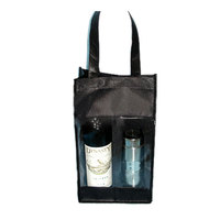PG255 Christmas Promotion High Quality Cheap Black Recycled Non Woven Wine Bag