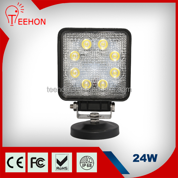 hot sell truck parts car accessories 12v 24V auto led work light 24W led work light