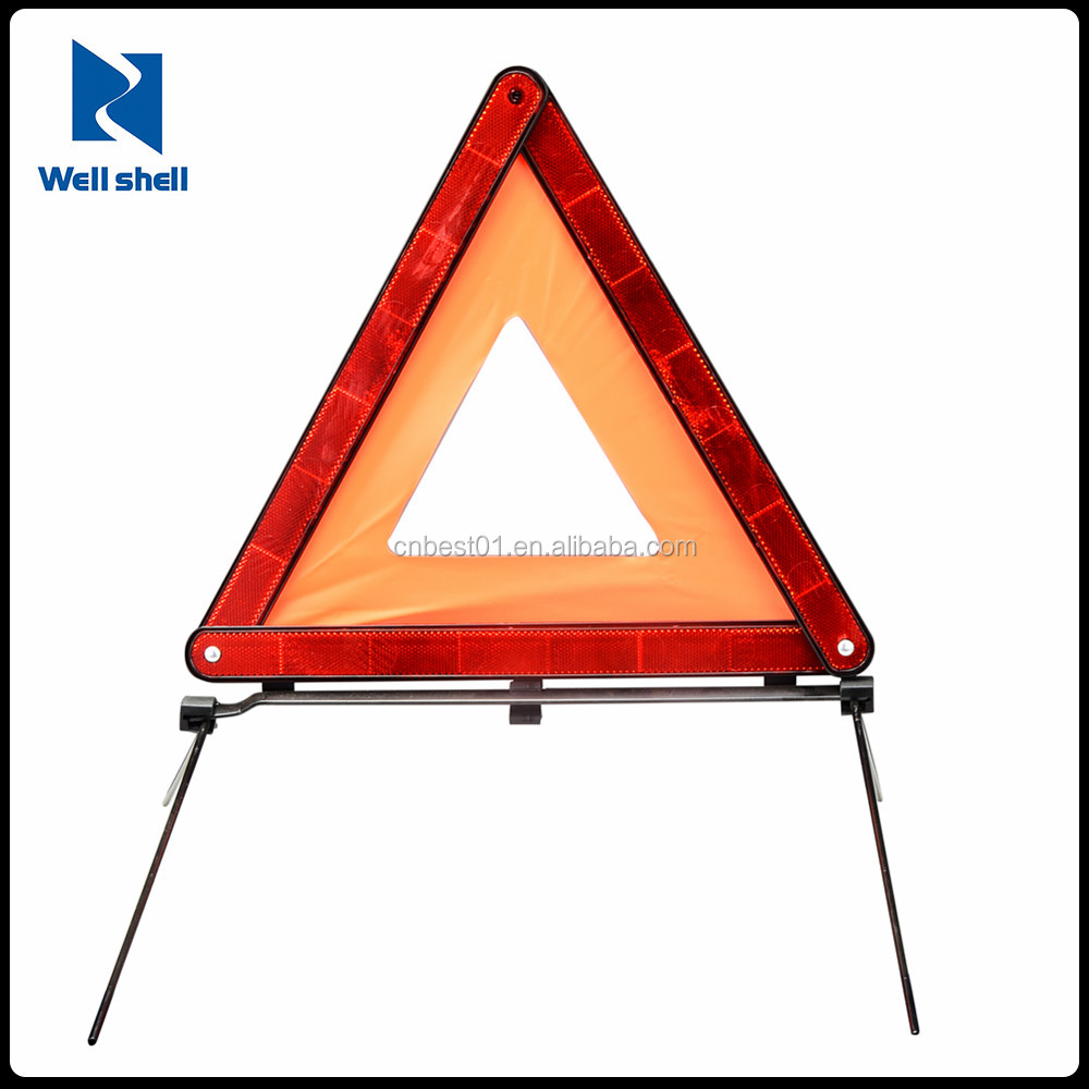CE E-mark Emergency tools safety Triangle reflector Reflective triangle