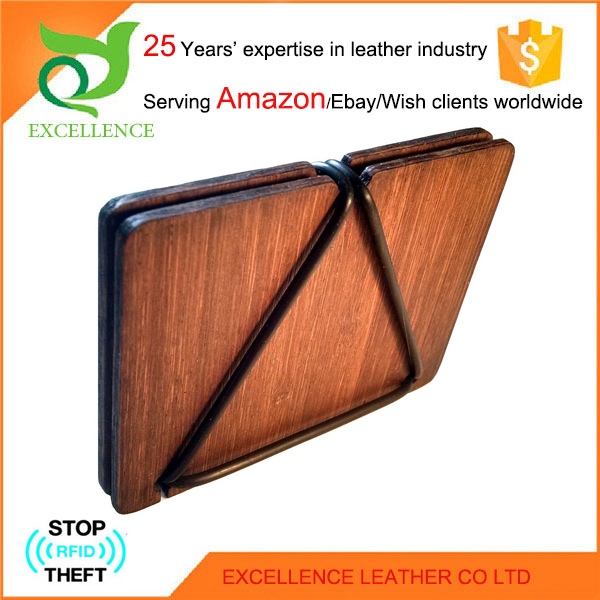 New-design bamboo wallet Rfid Wallet OEM/ODM Factory 25 Years' Experience