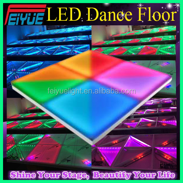 Professional Stage Lighting Acrylic Portable Interactive Radiation Strip RGB 720pcs 10mm LED Dance Floor Light