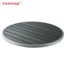 TOPHINE Furniture Outdoor Garden Round Polywood Table Top With Aluminium Edge