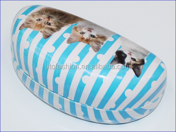 YT3060 2015 Custom cat pattern sunglasses case with 3d