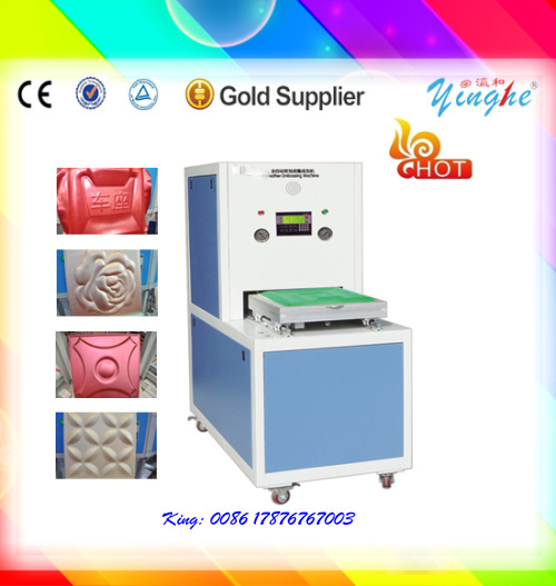 easy operation manual leather label embossing machine on sale