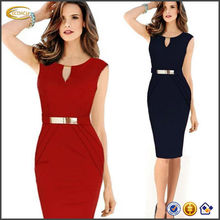 OEM supplier Sexy Ladies Celeb Sleeveless Slim Fashion Bodycon Party Cocktail evening dress short in china