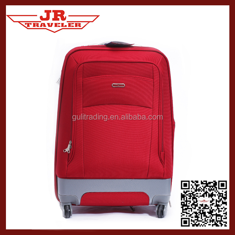 polyester carry-on luggage/lightweight trolley luggage set/Chinese luggage factory /supplier