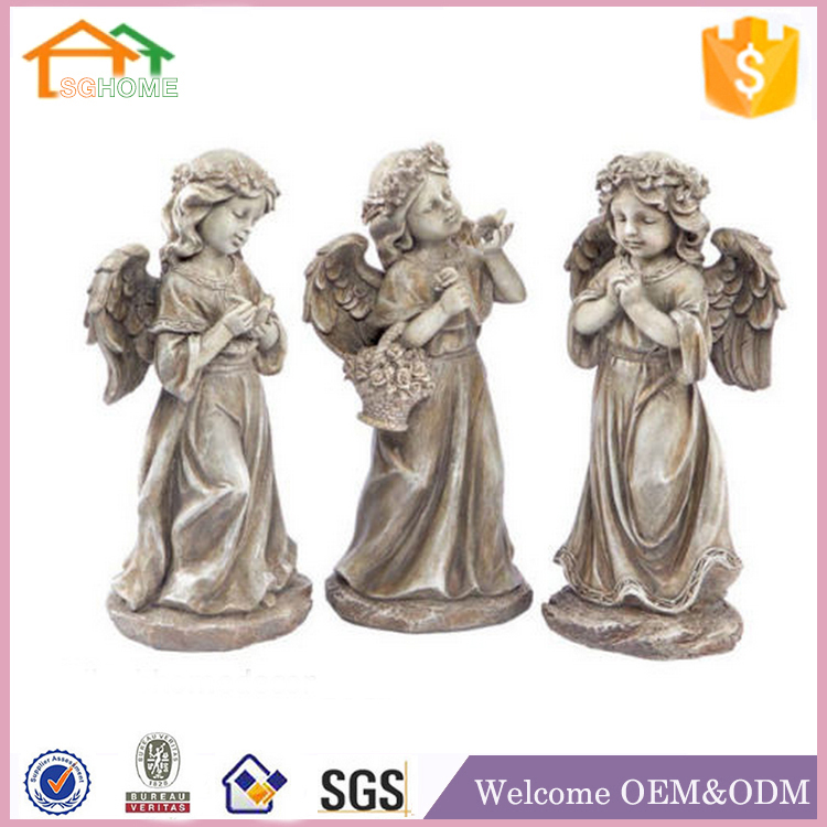 Custom made garden decor polyresin angel figures casting for garden
