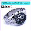 Factory low price stainless steel wrist band spy hidden camera watch