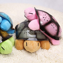 Decoration cartoon projection Turtle night light starry sky plush night light for kids