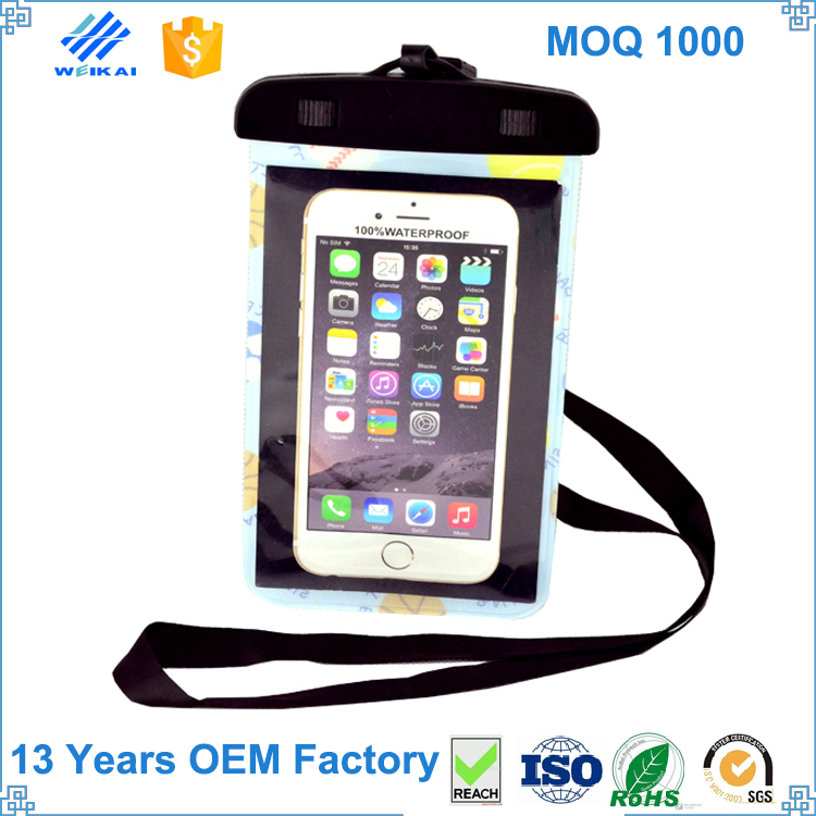 China Supplier Fireproof Waterproof Swimming Drawstring Water Proof Smart Phone Arm Bag