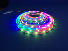 White casing waterproof ip65 light 5V 30leds/m 5050rgb led strip lights ws2812b