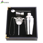 SANMENG 5pcs Stainless Steel Cocktail Shaker Mixer Drink Bartender Martini Tools Bar Set