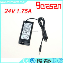 ac dc adapter manufacture power adapter 100 240v ac 50/60hz 24v 1.75a adapter