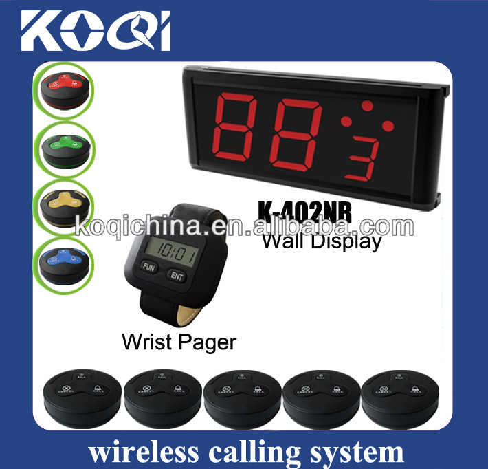 easy to use wireless Service call bell System K-402NR+300+K-H3 for entertainment