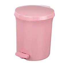 Plastic Eco friendly kids trash can, plastic bathroom trash can mockup,advertising and commercial trash can/