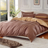 Dark And Light Solid Colour Reversible Comforters Bed Linens