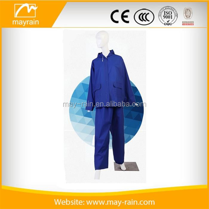 2017 New waterproof plastic kids rain suits