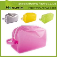 OEM high quality recycle plastic fashion clear cosmetic pvc bag