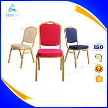 Blue / Gold Steel Stacking Banquet Chair
