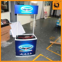 outdoor plastic tasting table lightweight advertising promotion stand for advertisingmade from Shanghai Youte
