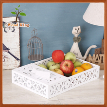 2017 Hot Sale Multifunction Wooden Paper Tissue Box Fruit Tray