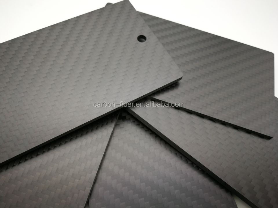 3k cfrp carbon fiber laminated sheet plate with cnc custom-made size for rc quadcopter chassis frame