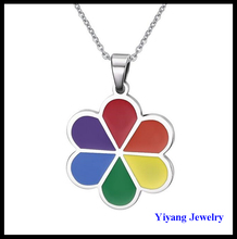 Flower Necklace Six Color Enamel Hot Selling American