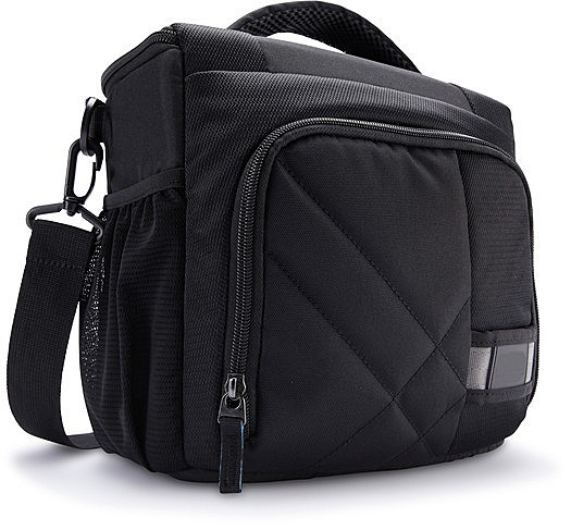 DSLR Shoulder Bag Medium - Shoulder bag for digital photo camera with lenses - polyester - black