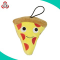 Hot sell plush pizza keychain stuffed food keychains pizza keychain