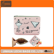 Fashion Pink Girl Cosmetic Makeup Bag Phone Key Coin Case Pouch Wallet Purse