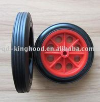 Flat Free Solid Rubber Tire and Poly Wheel 180mmx30mm