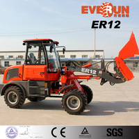 Qingdao EVERUN Wheel Loader ER12 with 4 in1 Bucket/Standard Equipment for Sale