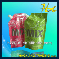 aluminum foil frozen food plastic spout packaging /clear window/heat seal bag/fruit packing