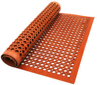 China Manufacturer Red Anti Fatigue Kitchen Perforated Rubber Mats