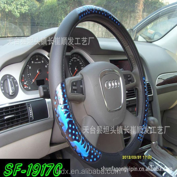 Fashion New Design cute animal PVC Swift blue Car Steering Wheel Covers