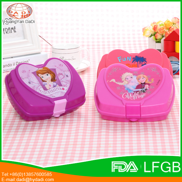 Top Quality kids plastic lunch box with lock for wholesale