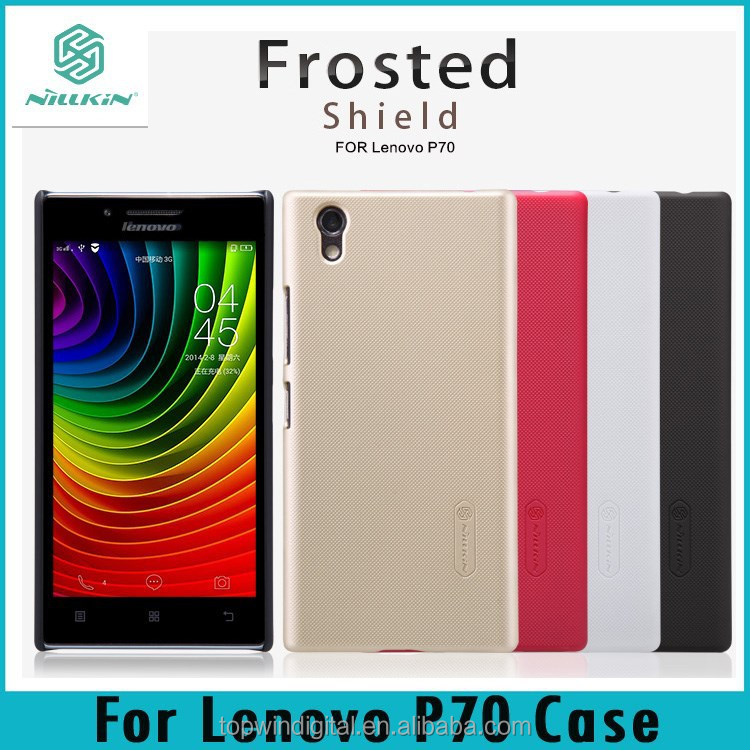 For Lenovo P70 Nillkin Frosted Shield PC Hard Back Cover Case for lenovo P70 With Screen Protector