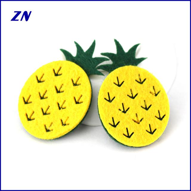 ZN wholesale felt fashion DIY pineapple headwear hair accessories for baby cloths