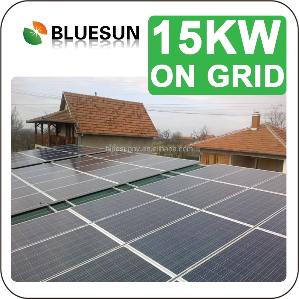 BlueSun esay installation 15kw adjustable roof mounting solar panel system