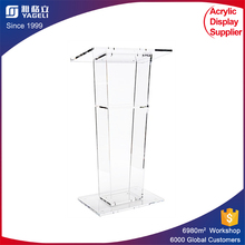 Clear and Modern Acrylic Church Pulpit Acrylic Church Lectern Acrylic Podium Dais Rostrum