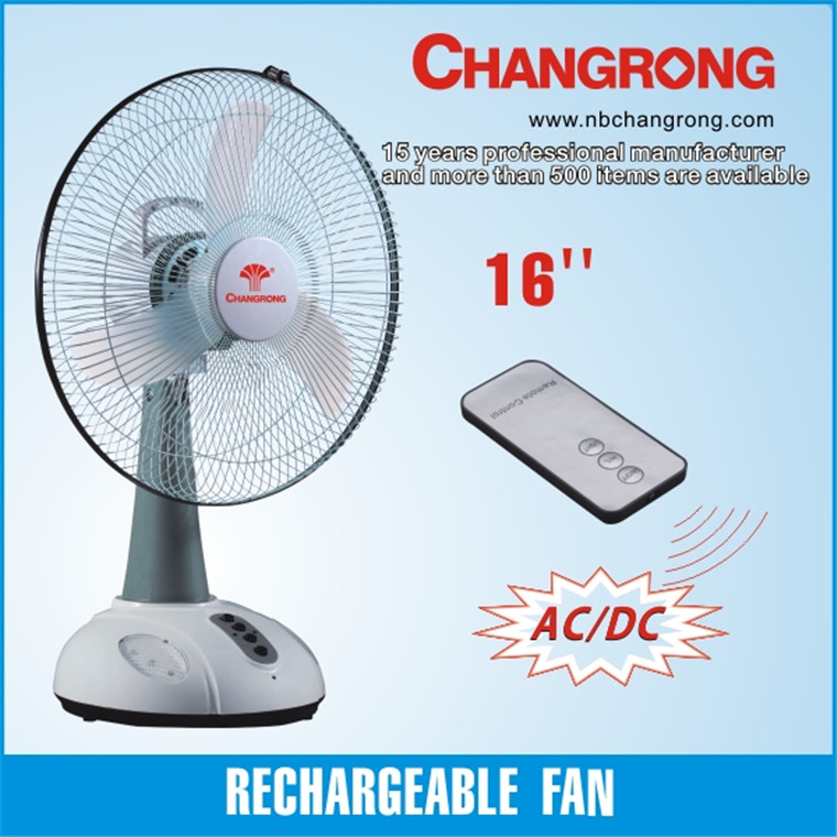 cooling plastic high quality rechargeable electric fan light