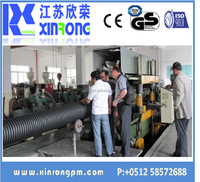 new design double layer corrugated drainage pipe with big diameter line