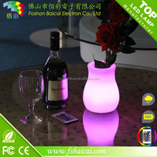 promotional IP54 color changing lighted small led flower pot outdoor