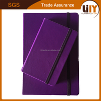 Rainbow color PU leather hardcover A5 notebook with eco-friendly offset paper