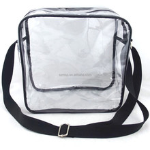 Transparent Clear PVC tote bag with long shoulder strap